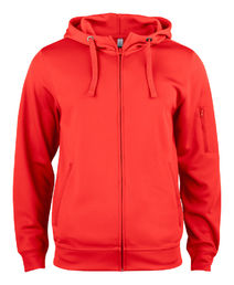 021015 Clique Basic Active Hoody Full Zip Ladies punainen 35